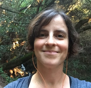Amy Cools listening to podcast on a hike in Joaquinn Miller Regional Park, Oakland, CA, Oct 15, 2016, square