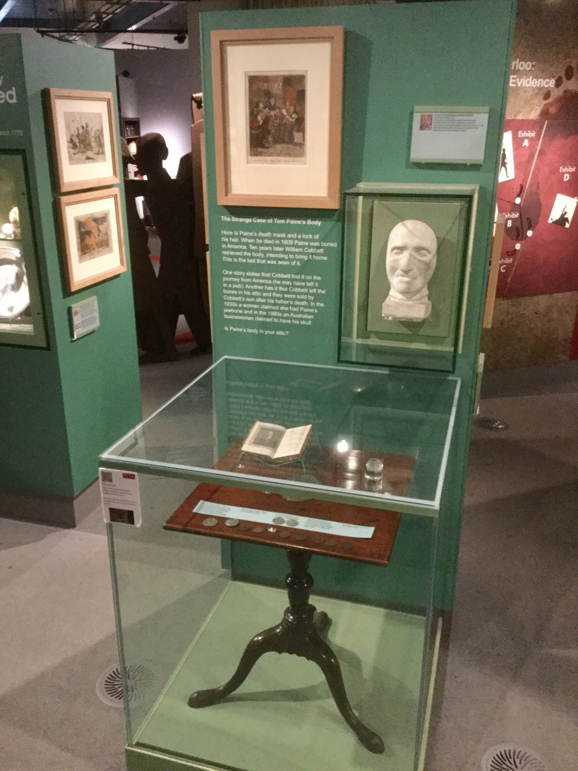 Thomas Paine display at the People's History Museum, Manchester, England, 2018 Amy Cools