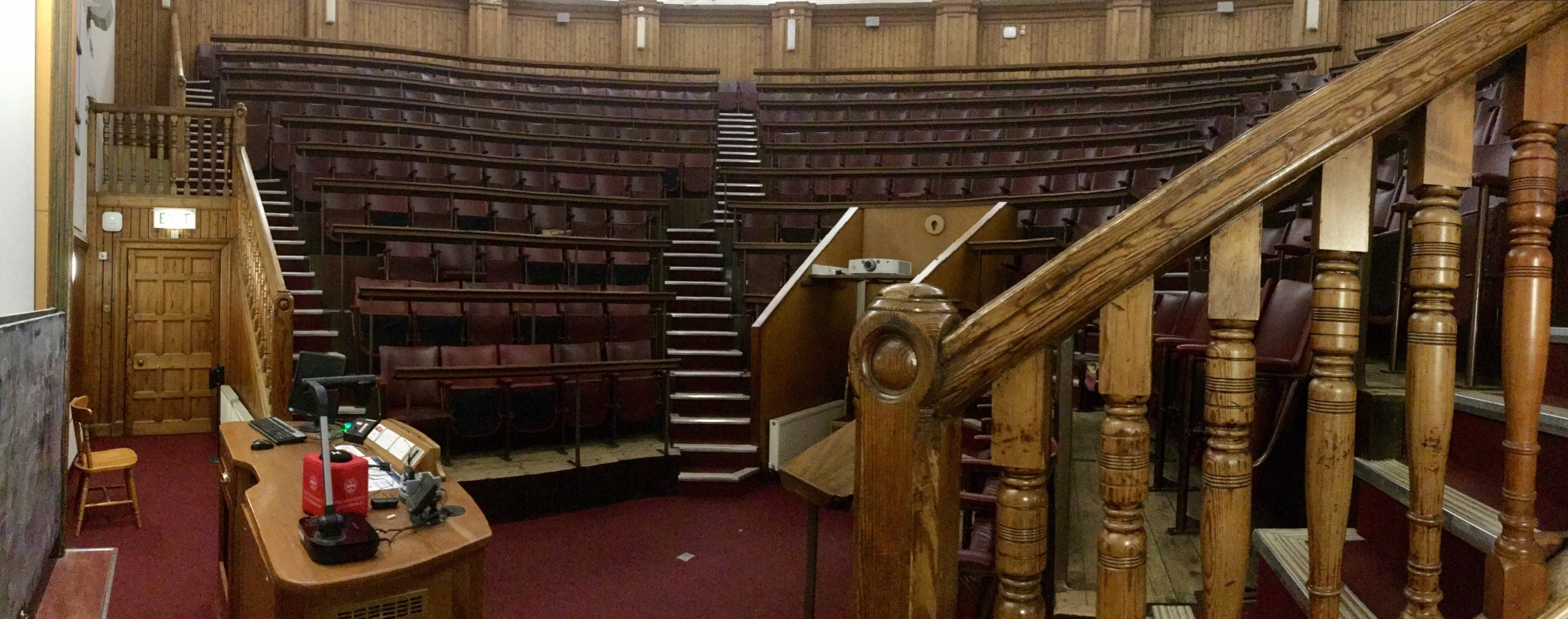 Anatomy Lecture Hall, view from near the door, Old Medical School, University of Edinburgh, 2018 Amy Cools
