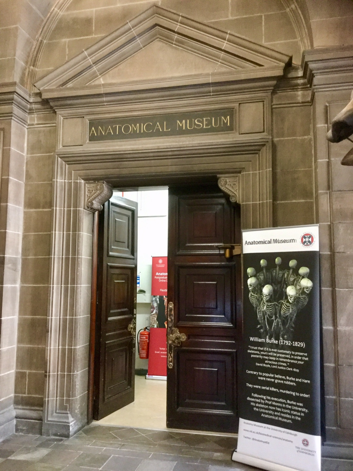 Doorway to the Anatomical Museum, Old Medical School, University of Edinburgh, 2018 Amy Cools