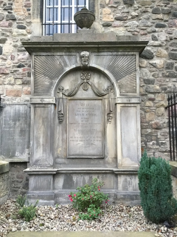 adam smith_s grave in canongate kirkyard, edinburgh, scotland, 2017 amy cools